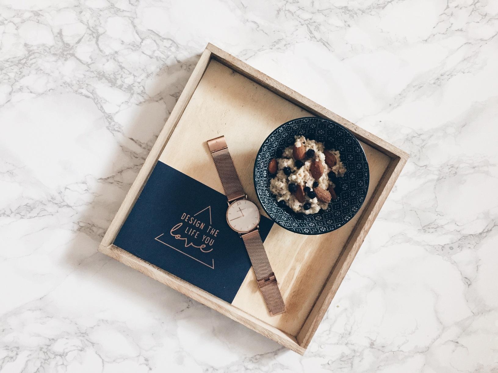 Porridge Rezept mit Heidelbeeren und Mandeln