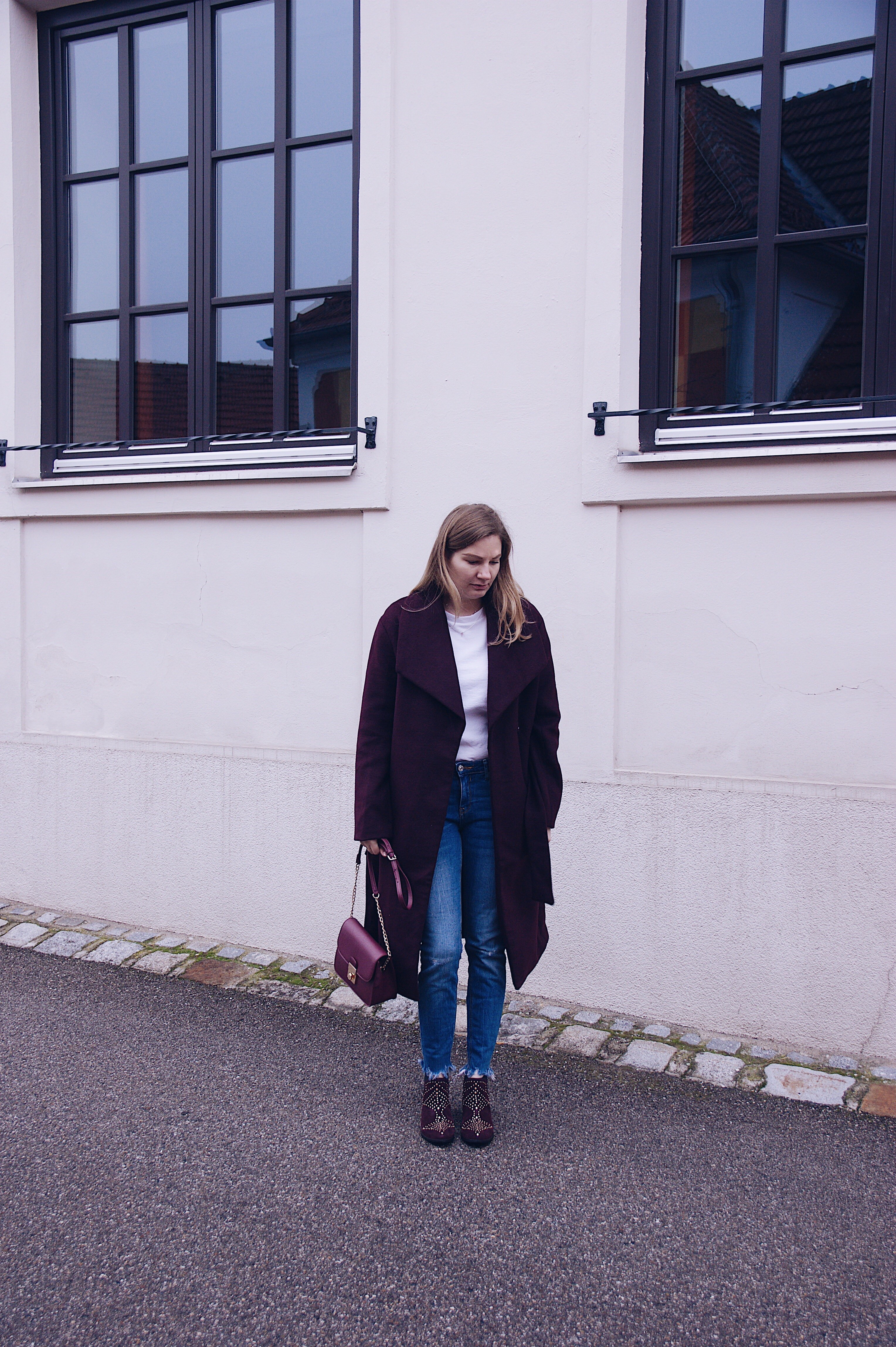 Fromwhereistand Jeans, Mantel, Steve Madden Stiefeletten