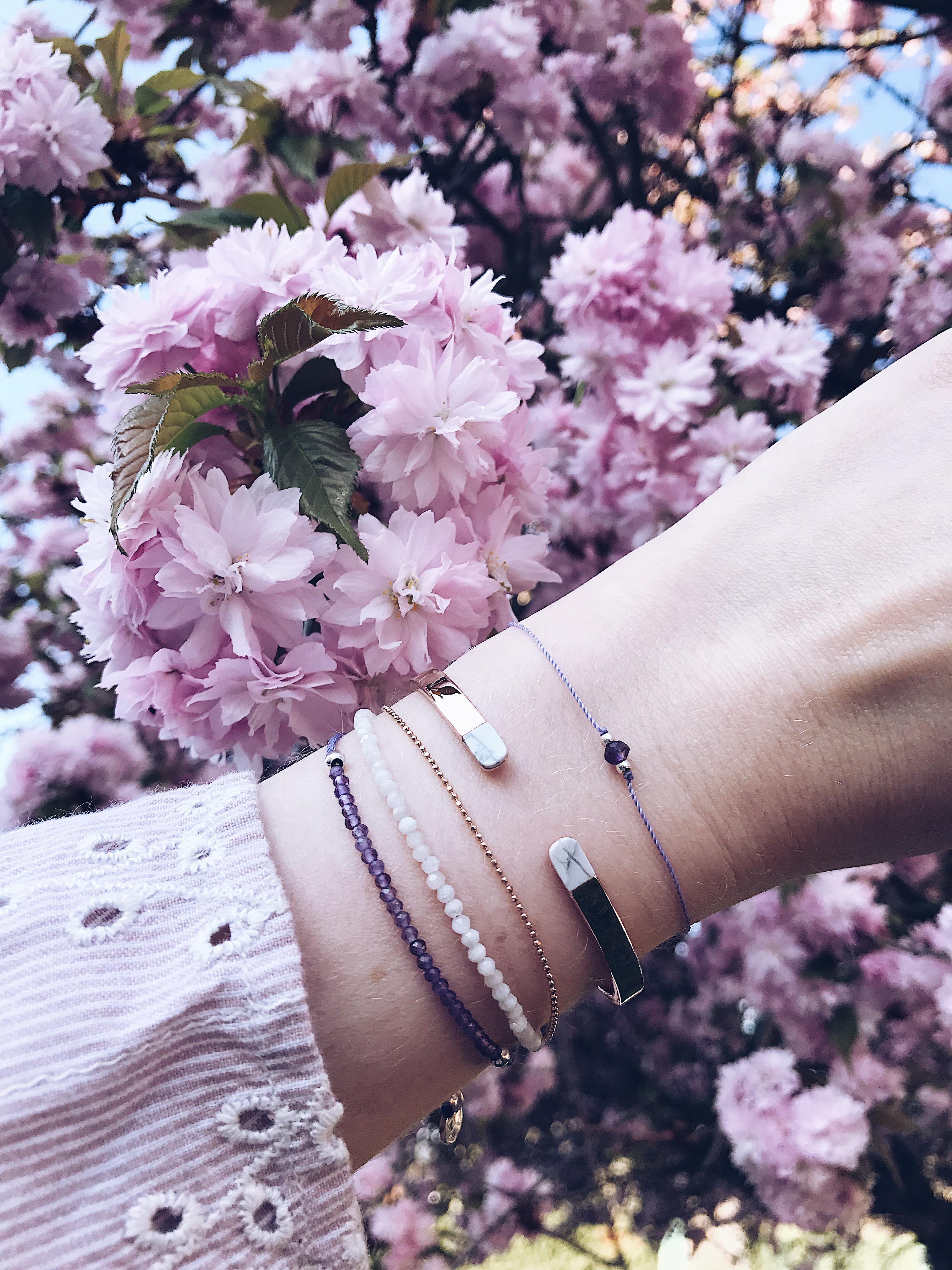 Cluse Armreifen, daisies and glitter