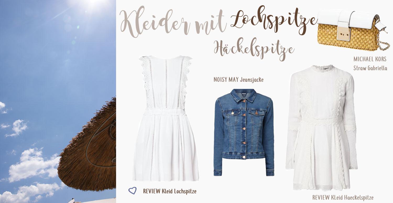 Kleider mit Lochspitze, Häckelspitze