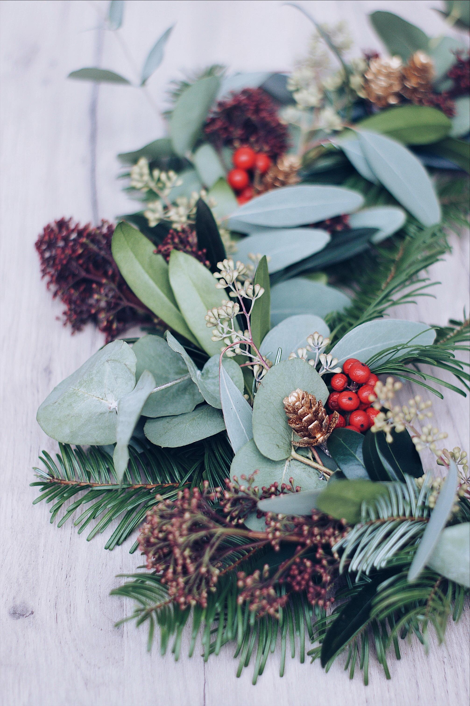 DIY Adventskranz mit Eucalyptus