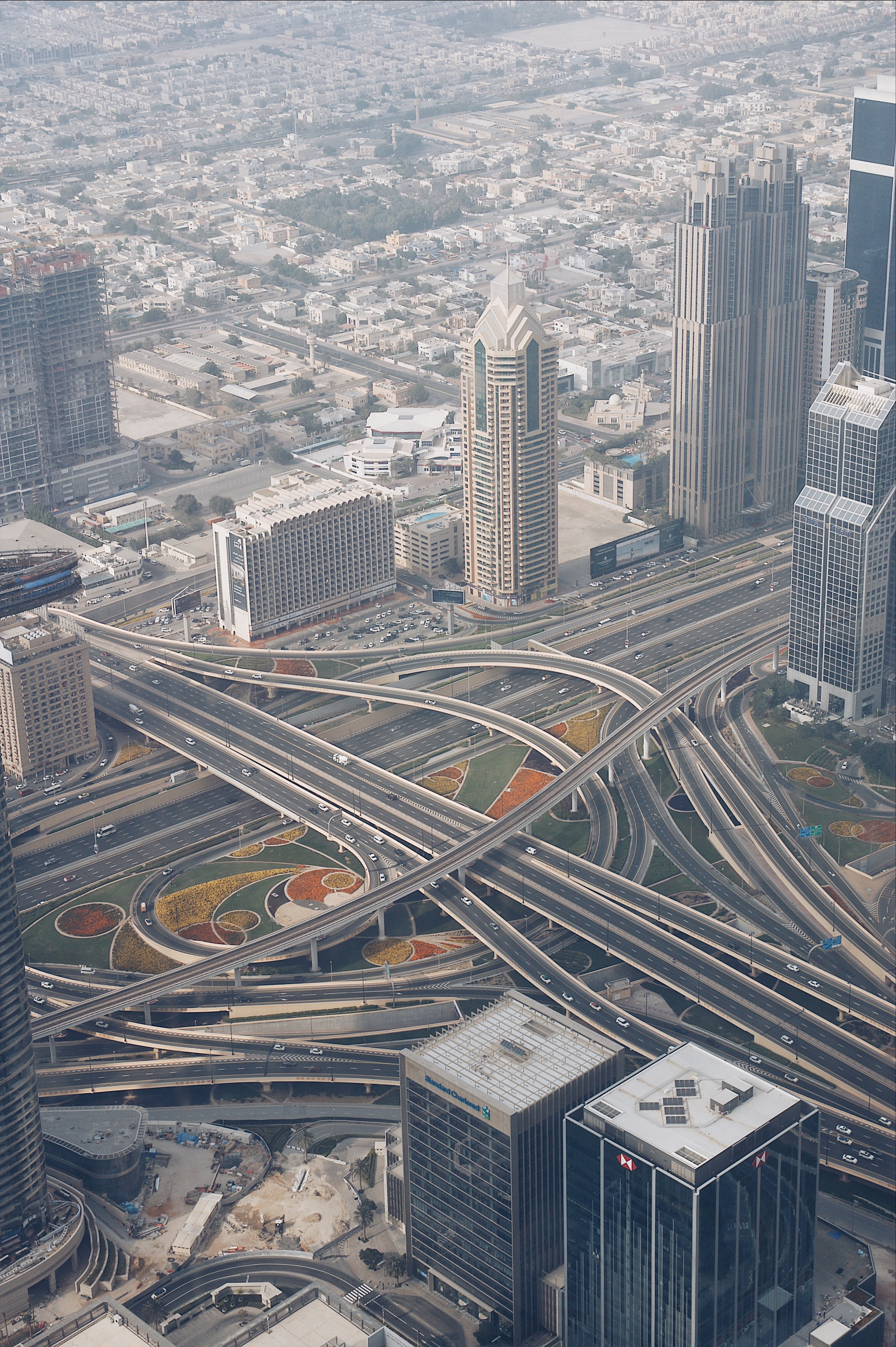 Dubai streets from above