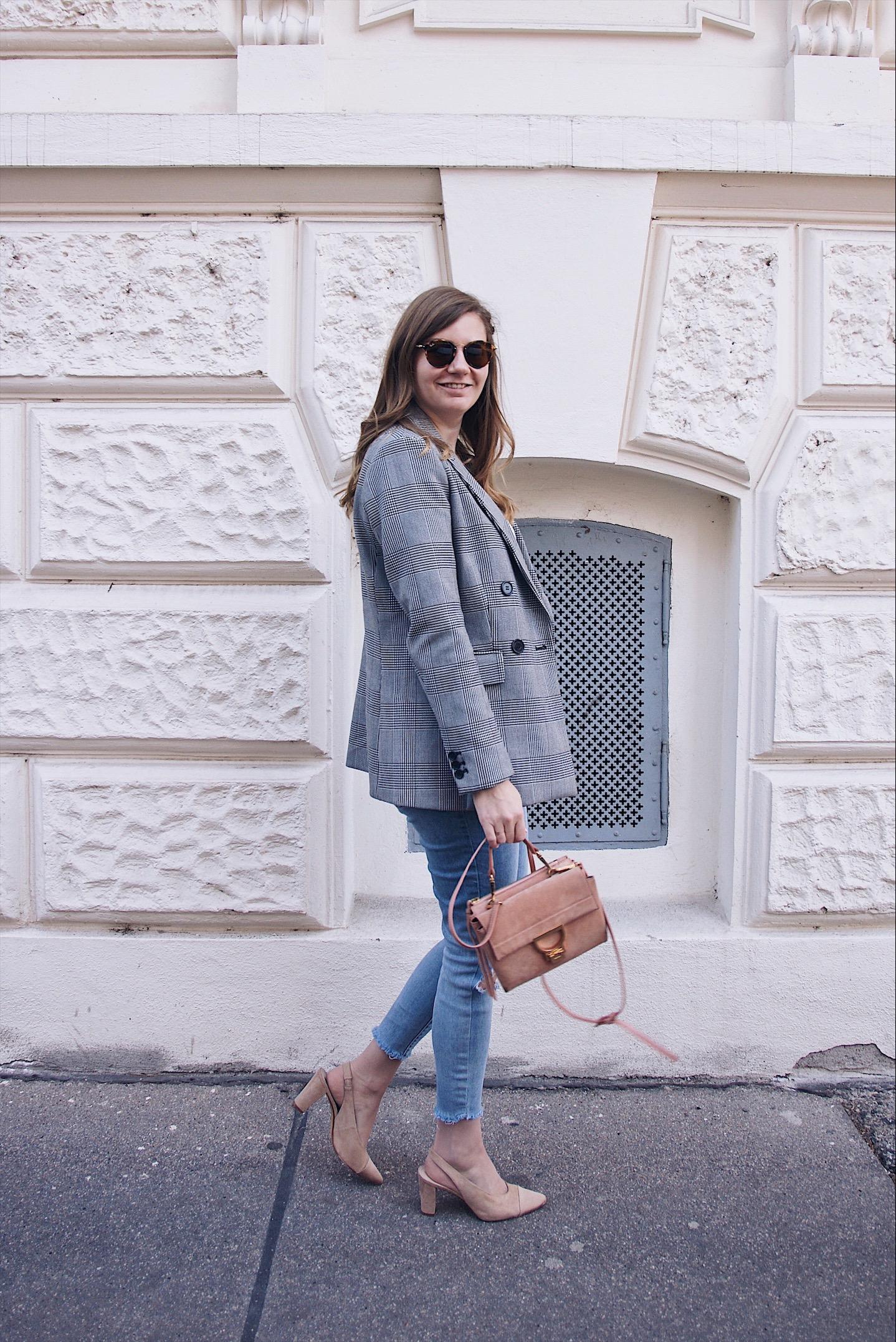 Hahnentritt Blazer Outfit