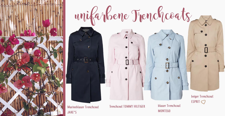 Trenchcoat Trends Frühling 2019