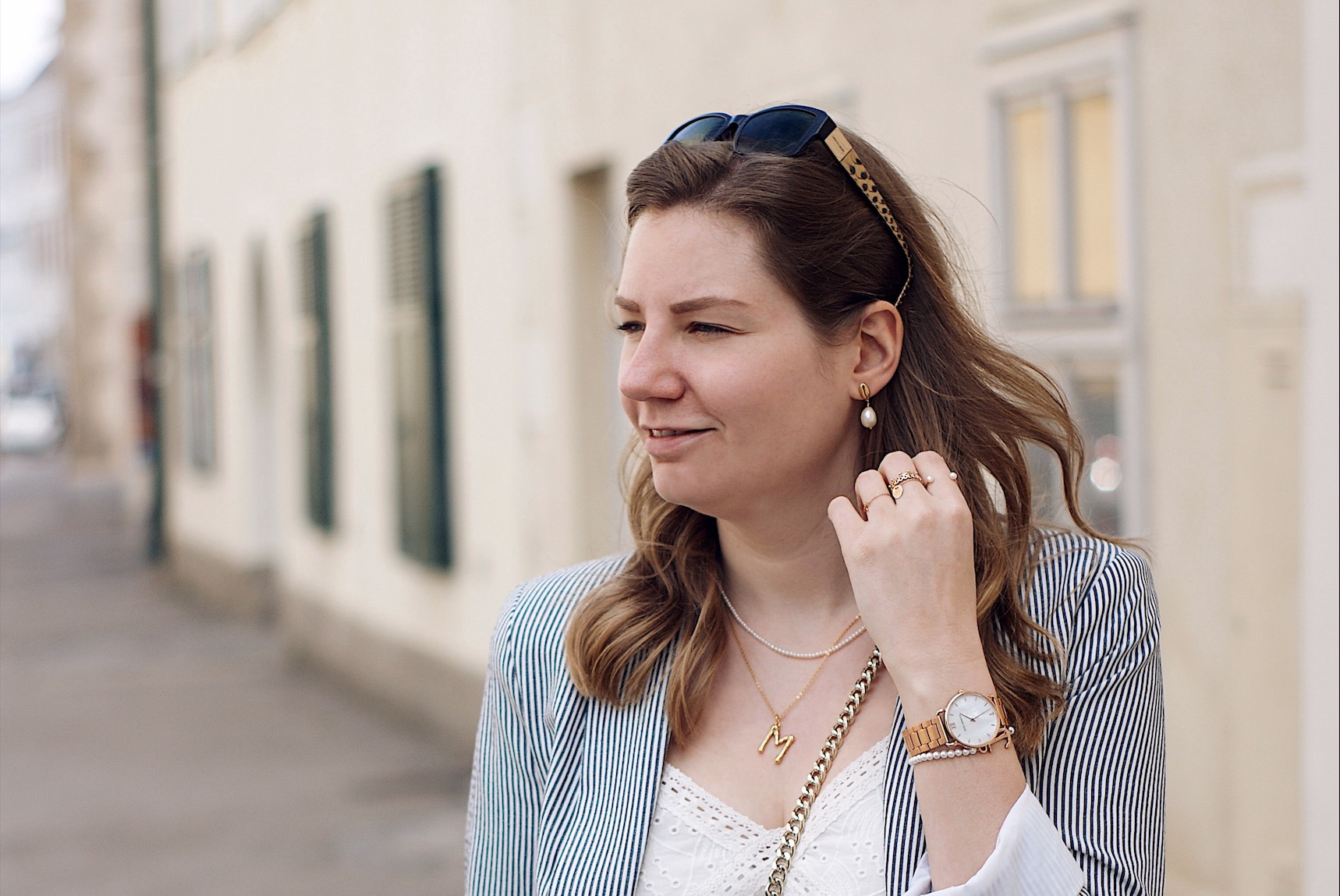 Outfit mit Blazer, all white Outfit