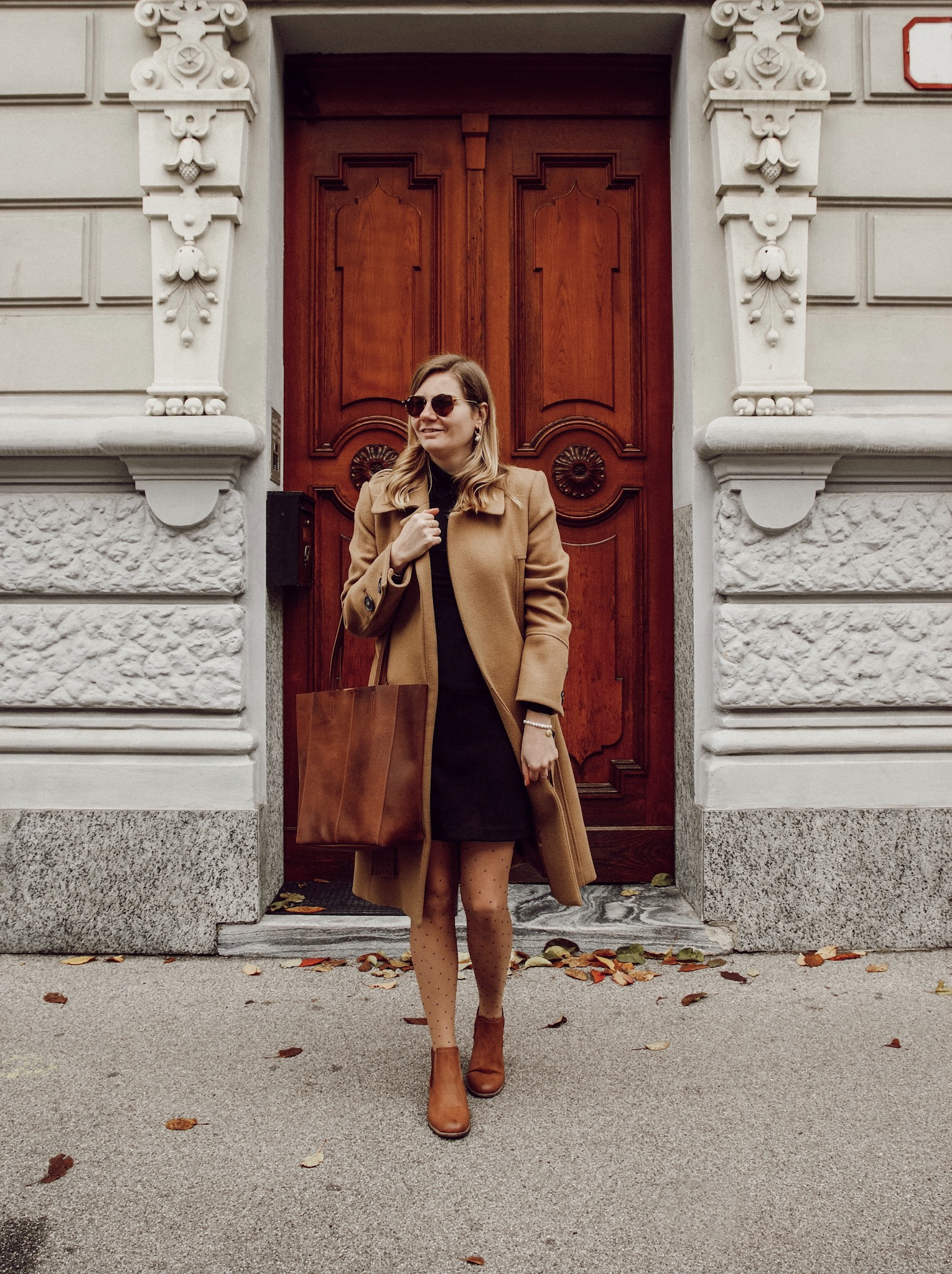 Outfit Herbst Camel coat
