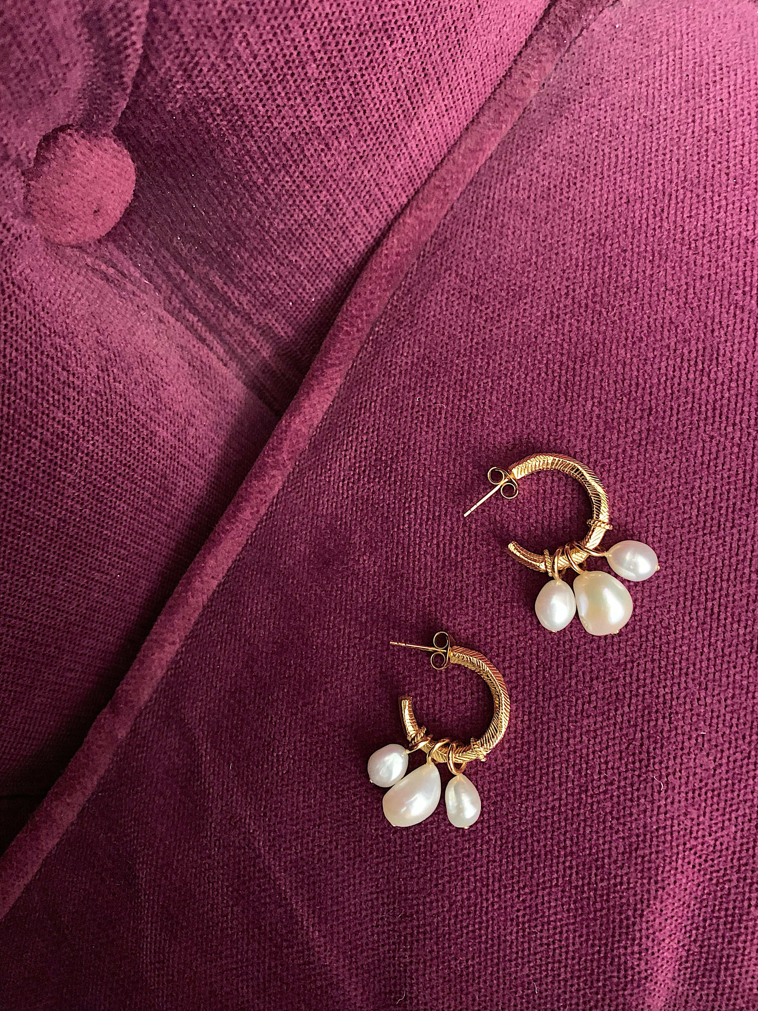 Safira pearl earrings