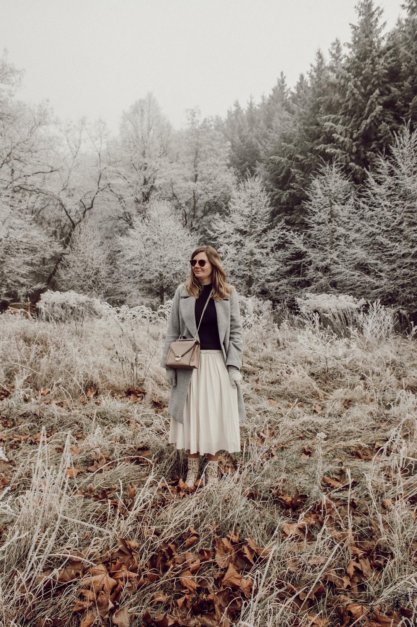 Winter Outfit Plisseerock pleated skirt Hallhuber