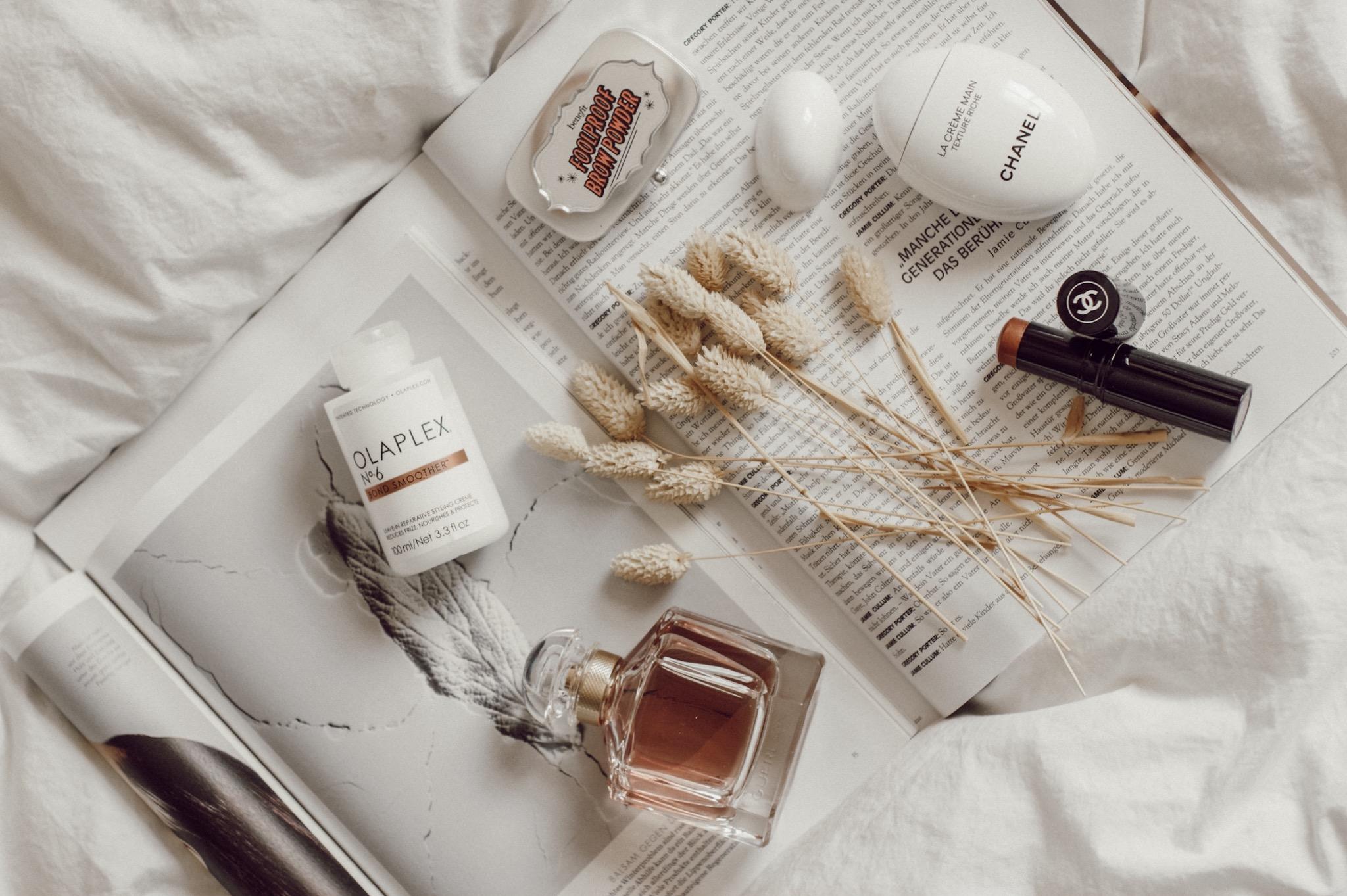 Beauty Favoriten, Mon Guerlain, Olaplex no 6, Chanel Handcreme, Foolproof brow