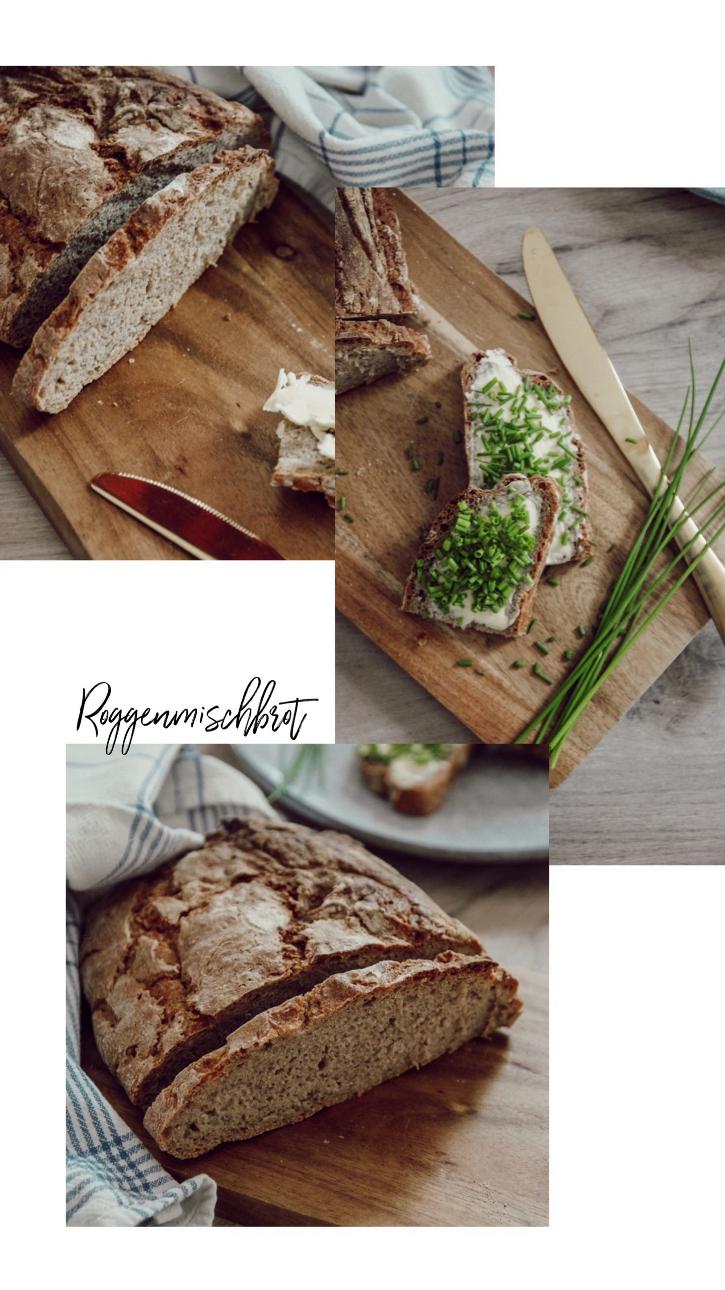 Roggenbrot backen, Brot backen