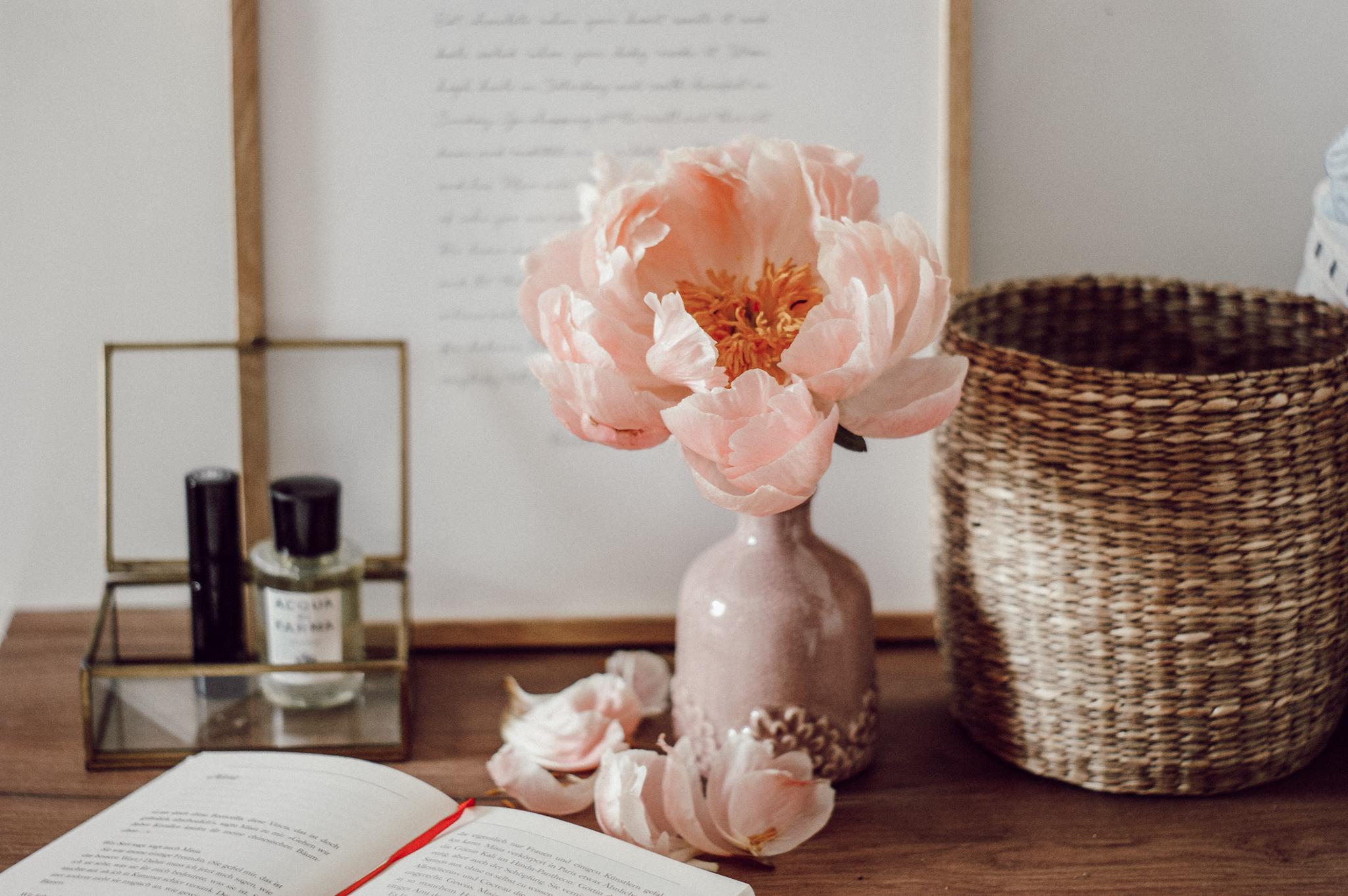Pfingstrosen in der Vase