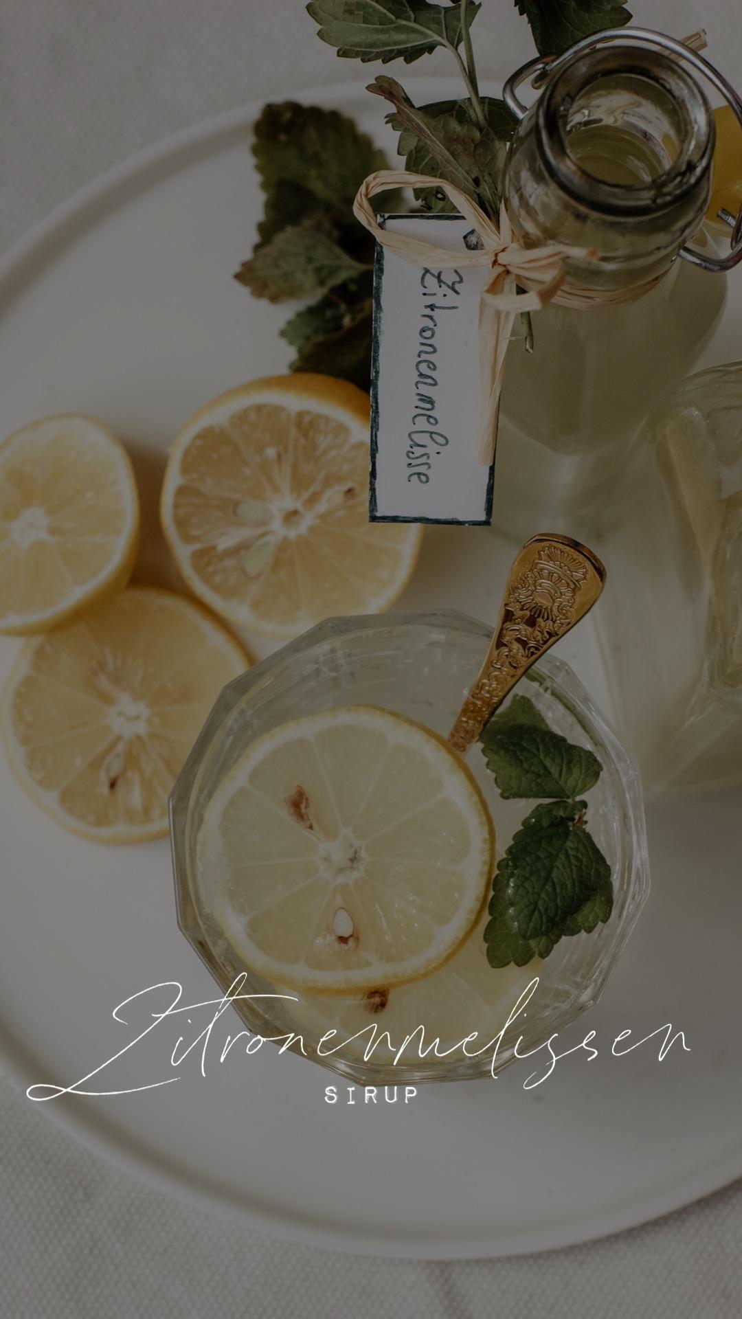 Zitronenmelissen Sirup
