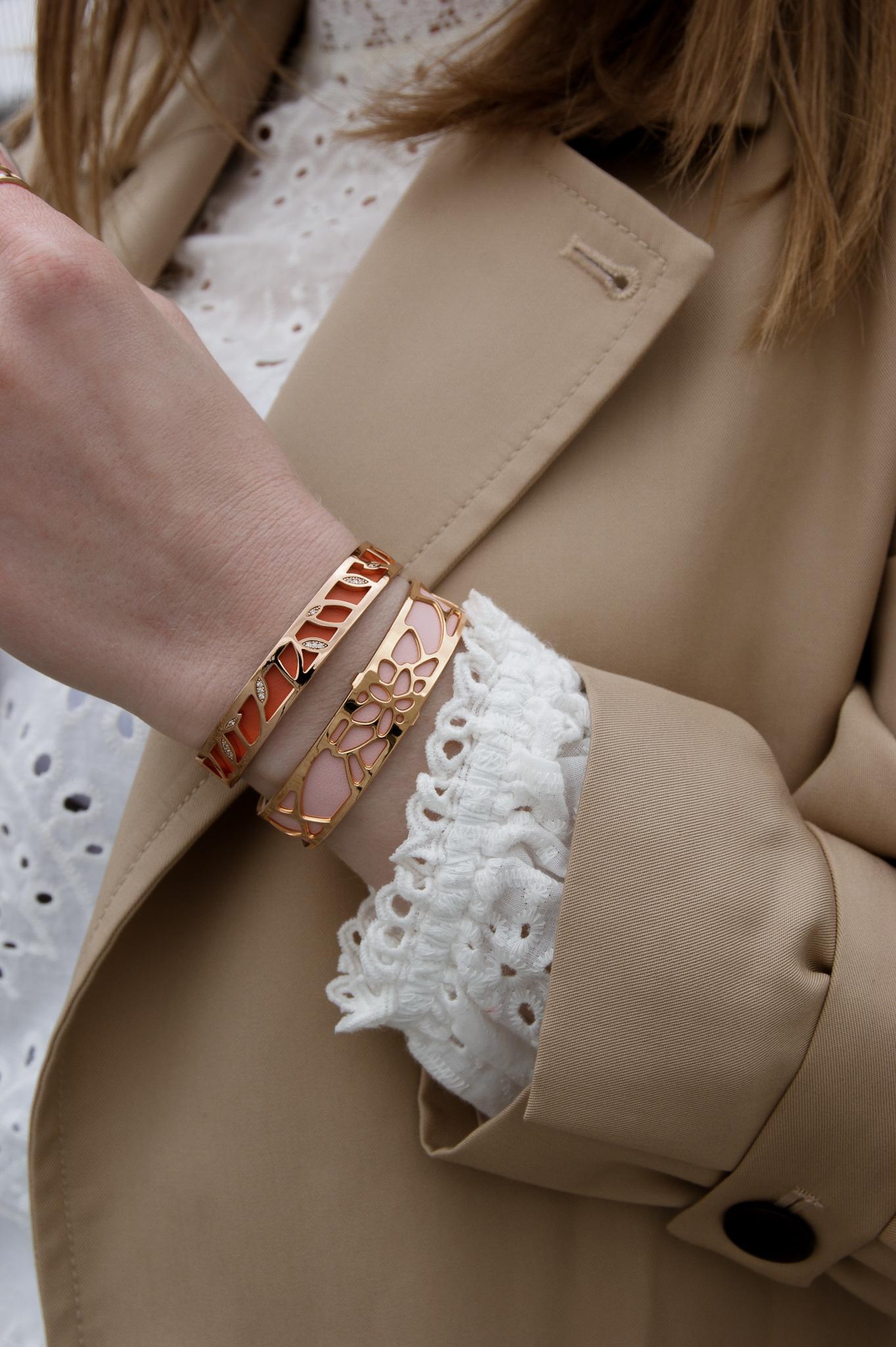 Les Georgettes, Armreifen, Armband, Armbänder, Leder inlay