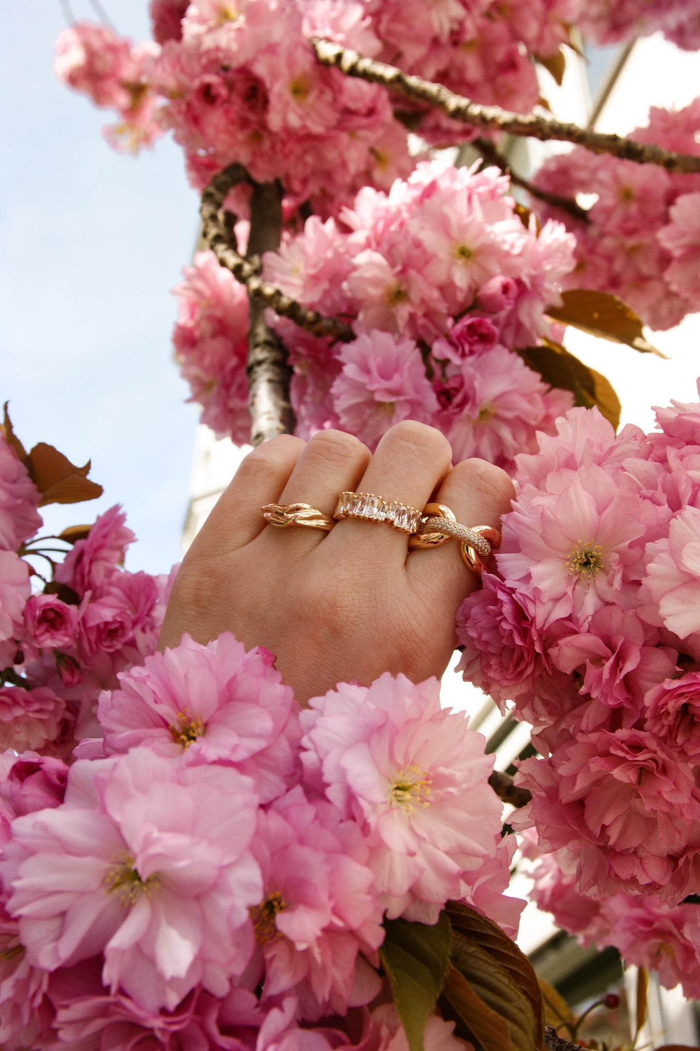 Sif Jakobs, Ringe, gold, statement, cherry blossom, Kirschblüten