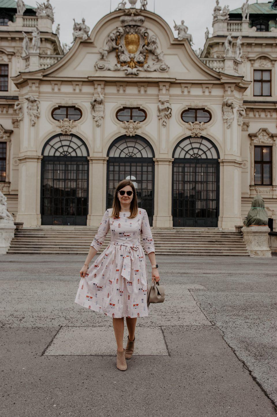 Marie Zelie Kleid, Schloss Belvedere
