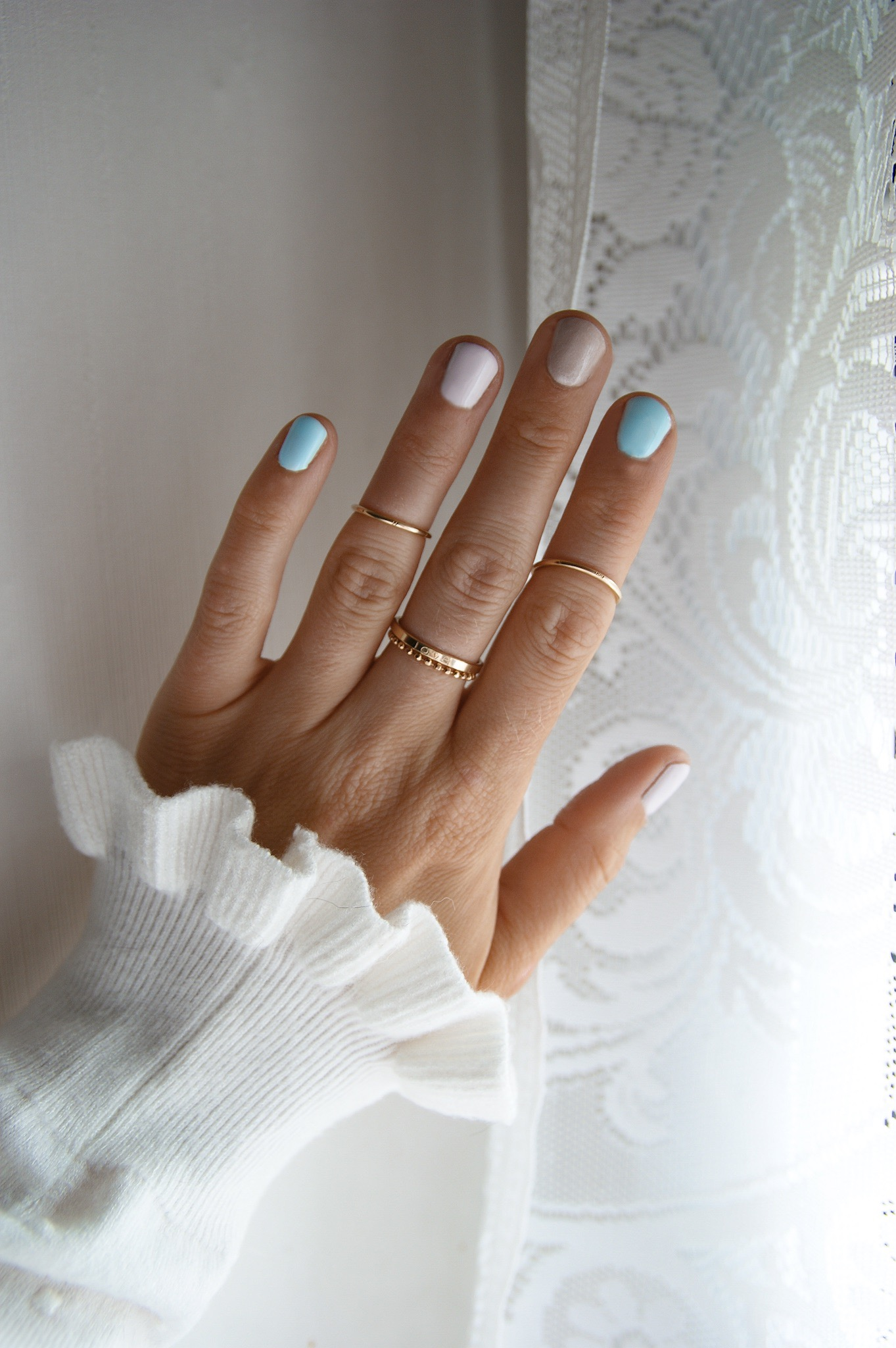 summer nail design, rainbow nails
