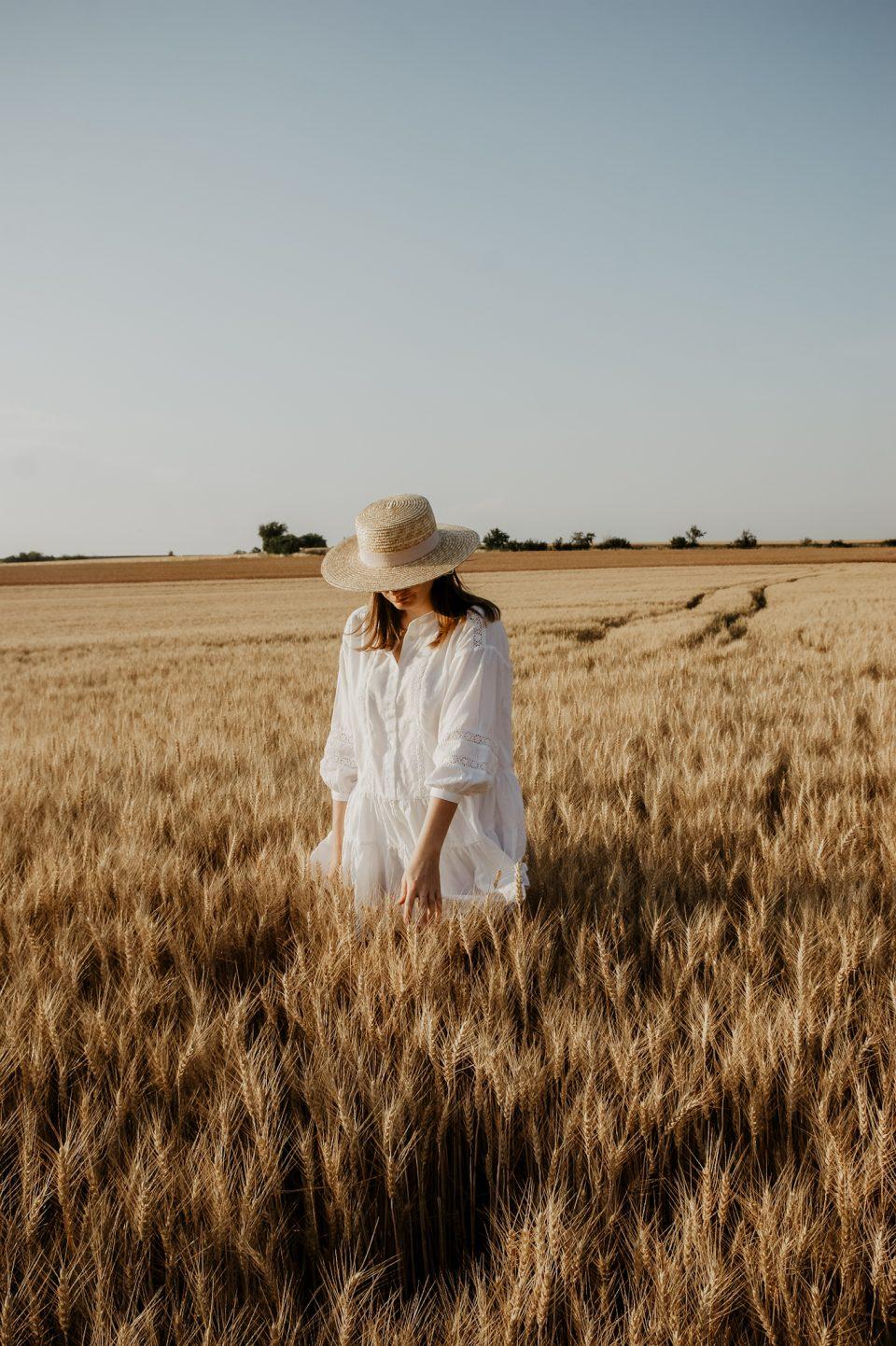 white summer dress Kornfeld
